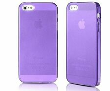 Thin cover/ case silicone matt effect caps dust integrated for iPhone 5 Purple