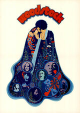 Woodstock Original DIN a2 CINEMA POSTER THE WHO/Joe Cocker/Jimi Hendrix Super