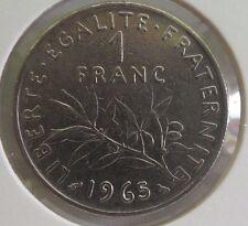 1 franc semeuse 1965 petite chouette : TB : pièce de monnaie française