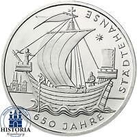Deutschland 10 Euro 2006 Städtehanse Gedenkmünze in Münzkapsel