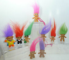 Lot of 9 Small Trolls - Pencil Toppers - Specials - Novelty
