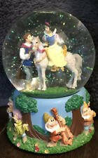 "Disney Snow White Snow Globe Music Box Plays ""I Love You Truly""  by Enesco"
