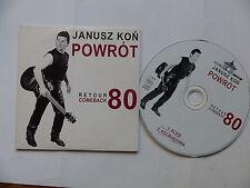 CD  single JANUSZ KON POWROT Retour comeback 80 Elvis Kolbuszowa