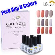 Ukiyo Classic Range Any 6 Color Nude Series Nail Gel Polish Need Top Base Coat