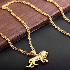Chain Hip Hop  Animal Men's Lion Necklace Gold Plating Pendant Necklace