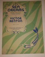 1939 Sea Dreams Barcarolle for Piano by Victor Renton Piano Solo Sheet Music