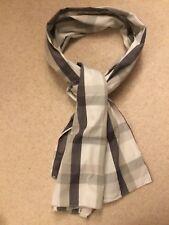 "Scarf Men's  Spydenim Cotton Scarf Check Black Grey White  66""x 19"""