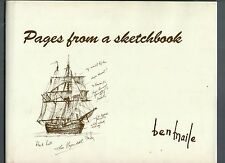 SIGNED BEN MAILE PAGES FROM A SKETCHBOOK FIRST ED HB DJ 1997 WITH PRINT FAULT