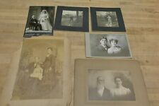 LOT OF 12 ANTIQUE CABINET PHOTOS OF MAN AND WOMAN COUPLES