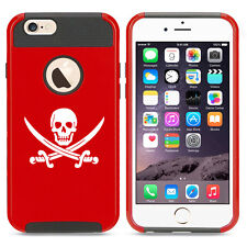 For iPhone SE 5 5s 6 6s Plus 7 Shockproof Impact Hard Case Jolly Roger Pirate