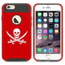 For iPhone X SE 5s 6 6s 7 8 Plus Shockproof Impact Hard Case Jolly Roger Pirate