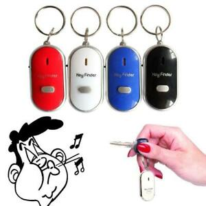 LED Anti-Lost Key Finder Locator Find Key Chain Key Ring Whistle Sound Control