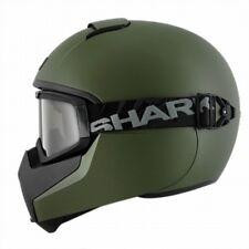 Shark VANCORE Blank Full Face Motorcycle Helmet Matt Green Medium
