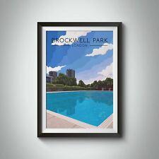 More details for brockwell park london travel poster - framed - vintage - bucket list prints