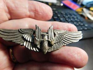 WW2 Three Inch Sterling USAAF Aerial Gunner Qualification Wing By AMICO