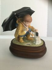 1987 willet galleries Donald zolan limited edition boy with umbrella and dog