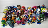 Lot Of 46 Assorted Toy Figures Disney, Marvel Smurfs Figurines Vinylmation +