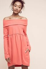 NWT Anthropologie Off The Shoulder Cocoon Fleece Dress By Saturday/Sunday Small