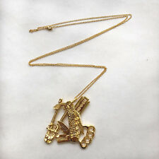 Obey Jewelry Urban Tools Necklace Gold One Size NEW Shepard Fairey