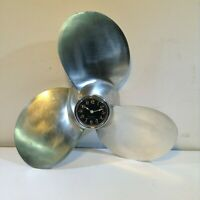US Navy Mk-39 Torpedo Propeller Aluminum Clock Man Cave Office