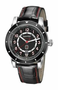 NEW Eberhard & Co. Tazio Nuvolari Swiss Automatic Leather Strap Watch 41032.01