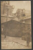 Postcard Lowestoft Suffolk WW1 bombardment of 153 London Road 1916 RP