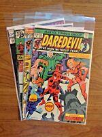Daredevil x4 Book Lot #123, 138, 156, 298 Marvel Comics
