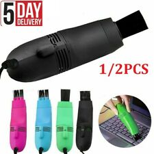 Computer Keyboard USB Vacuum Cleaner PC Laptop Brush Dust Remover Cleaning Tools