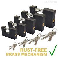 GERDA Shutter Padlock TypeC Iron Cast 3 Keys SECURITY Various Sizes Shackle