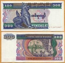 Myanmar ND (1996)  GEM UNC 100 Kyats  Banknote Money Bill P- 74b