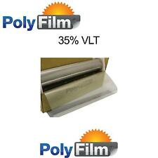 35% VLT Silver Mirror Reflective Glass Window Solar Film 76cm x 6m Roll Tint