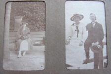 Album photos albuminées, vers 1900 Militaire, Famille, Promenade en barque..
