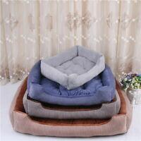 Striped Soft Washable Dog Pet with Cushion Bed Basket Warm Large Washable Linin.