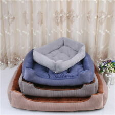 Dog Bed Pet Cushion House Washable Dog Soft Warm Bed Kennel Blanket with Lining^
