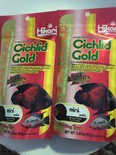 New listing 2 Bags Hikari Cichlid Gold Mini Pellet - 2 oz. (57 g) New Exp 2021 Fish Floating