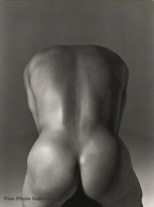 1995 HERB RITTS Asian Nude Male Man Butt Kazu Japanese Soccer Football Photo Art
