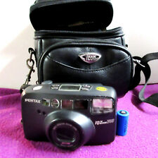 Pentax IqZoom 140 35mm Point & Shoot Film Camera - Zoom & Flash Battery & Case
