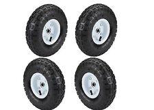 Set of 4 10 in Haul-Master Pneumatic Tire Wheel GO CART 4.10/3.50-4 KNOBBY TREAD