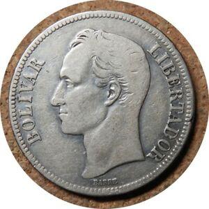 elf Venezuela Gram 25  5 Bolivares 1935 (P)  Silver  Philadelphia Mint  E39