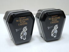 Yujin Disney Nightmare Before Christmas Tin Box Coffin Barrel Mini Figure 2 pcs.