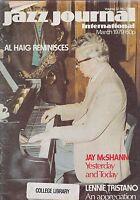 MARCH 1979 JAZZ JOURNAL INTERNATIONAL music magazine AL HAIG - JAY MCSHANN