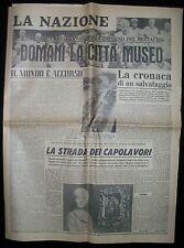 Fascicolo LA NAZIONE Alluvione di Firenze  4 Nov.1967 2° Speciale Anniversario