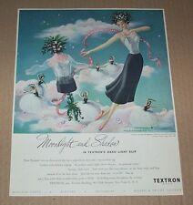 1948 print ad page - Textron Slips lingerie dark-light slips Beautiful ART ad