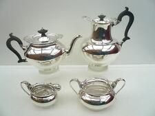 4 Piece Silver Tea Set, Sheffield 1924, Thomas Bradbury & Sons Ltd