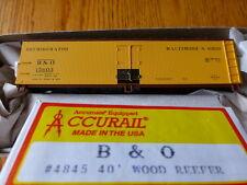 Accurail HO #4845  /40' Wood Reefer - Kit  Baltimore & Ohio #15603 (yellow, Boxc