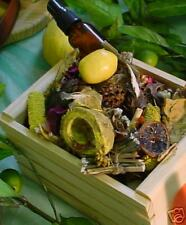 Lemon potpourri in crate with 1 oz oil