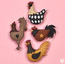 Dress It Up Botones gallinero adornos de pollos de 8295