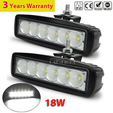"2x 18W 6"" FLOOD Cree Led Bar Work Light Boat Car Truck Lamp SUV UTE ATV offroad"