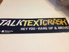 4 Talk Text Crash Hang Up And Drive Cel Phone Car Driving Bumper Stickers Promo