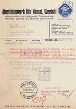 WERDOHL, Brief 1938, Aluminiumwerk Otto Honsel Aluminium-Haus-Küchengeräte